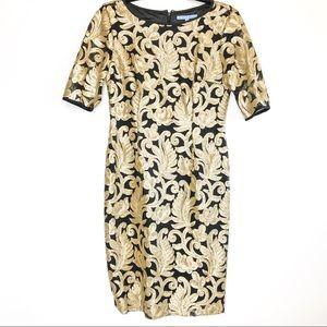 Antonio Melani Evening Embroidered Sequin Dress